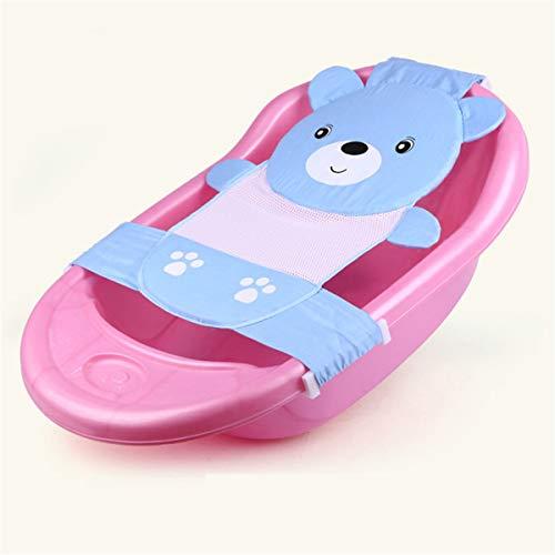 Sac multifonctionnel de filet de douche de bébé de tissu respirant qui respecte l'environnement, filet de bain renforcé d'ours, lit de bain nouveau-né, utilisation de printemps et d'été produit pour b