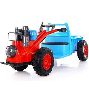 WXCymhy La Voiture de Jouet de Tracteur électrique de Tracteur des Enfants, Le Chargement de Mini Tracteur de Poussette à Quatre Roues Peut s'asseoir Produit pour bébé