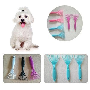 Hongfei Pet Cats Grooming Brush Comb Rake Plastic Clean Cleaning Garden Random Color !