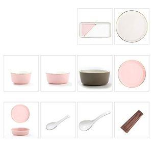 WH- Set De Vaisselle, Vaisselle De Maison, Vaisselle En Céramique, Facile À Nettoyer, Résistant À La Chaleur, Grillé, Spécifications Diverses (Color : 56 piece set)