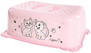 LUPPEE marchepied enfant avec zones antidérapantes, 41×28,5×14,5 cm, trois coloris, marchepied pour enfants, escabeau enfant, marchepied antidérapant pour enfants, enfant (pink)