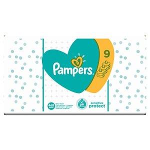 Pampers Sensitive Protect 468 Lot de 9 packs de 52 lingettes humides