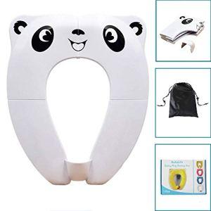 [Upgrade Version] Bébé Réducteur de Toilette – RIGHTWELL Voyage Siège Pliable de Toilette Siège Pot Portable Pour Enfants Bébé (Blanc)