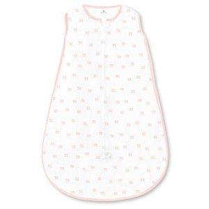 Amazing Baby by SwaddleDesigns, Gigoteuse en Coton avec Fermeture Éclair à Double Sens, Petites Rosettes, Rose, Petit, 0-6 Mois