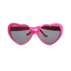 Garciaria À la Mode en Forme de Coeur Lunettes de Soleil Cadre en Plastique UV400 Miroir Unisexe Sun Glass Beaux Enfants Adultes Lunettes pour Voyage (Couleur: Rose Rouge)