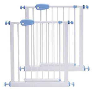 Leogreen – Barrière de Sécurité sans Perçage Barrière Sécurité Enfant Extensible de 74 à 87 cm, Easy Lock avec Une Main, 2 Pcs