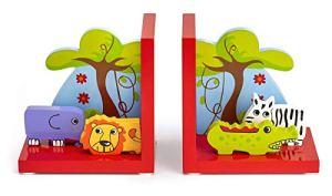 Mousehouse Gifts – Serre-livres 3D pour chambre d'enfant – en bois/thème safari