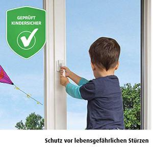 REER Sécurité pour portes de balcons et fenêtres Sécurité enfant, blanc