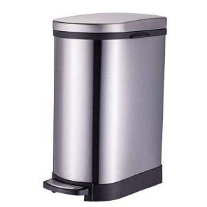 Zyangg-Home Trash Can ménages Poubelle à pédale 10L Poubelle Poubelle avec Couvercle en Acier Inoxydable for Bin Salle de Bain Cuisine bac de Recyclage Poubelle (Color : White, Size : 10L)