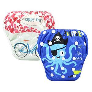 Bébé Swim Nappy – 2020 Imperméable À l'eau Réutilisable Diapers, Réglable Shark Piscine Pantalon Piscine Couche, Lavable,02