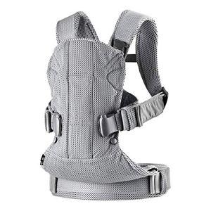 Porte-bébé multifonctionnel, porte-bébé Ergonomique Sangle respirante Support de tête réglable à l'arrière Ceinture-cadeau réglable pour bébé et bébé-grey