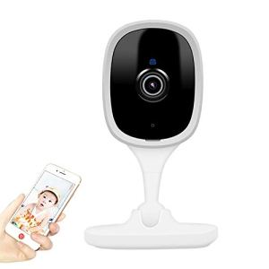 Retteec Caméra sans Fil K8 2MP babyphone à Distance sans Fil Accueil Voix Intercom Smart Monitor (Blanc) (Color : White)
