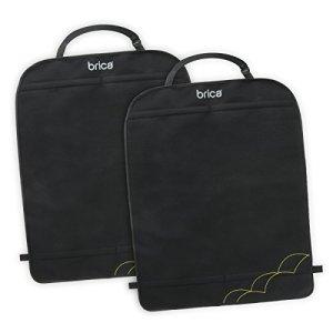 Brica by Munchkin Protecteurs de siège de voiture Deluxe Kick Mats, protections de dossier de siège de voiture extra-larges, protège contre les rayures, l'humidité et la saleté, 2 pc