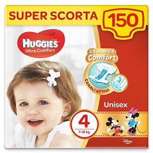 Huggies Ultra Comfort Lot de 150 couches Taille 4 (7-18 kg)