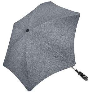 RIOGOO Parapluie Parasol Poussette Forme Irrégulière Universel 50+ UV Parapluie Protection Bébé et Infantile avec Poignée Parapluie pour Landau, Poussette, Poussette et Buggy-Gris