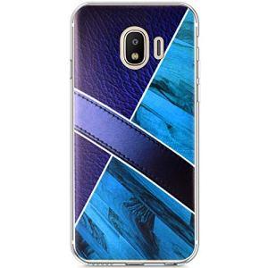 JCKHM Compatible avec Coque Galaxy J2 pro 2018 silicone,La mode Marbre TPU silicone étui Souple couvrir de Protection Silicone couverture Case doux Soft Cover Anti Rayure Anti Choc,Bleu