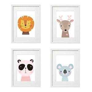 V1 Lot de 4 posters pour chambre d'enfant Format A4