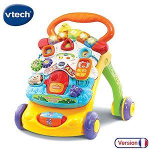 VTech – Super Trotteur Parlant 2 en 1 Orange – Trotteur interactif pour apprendre à marcher