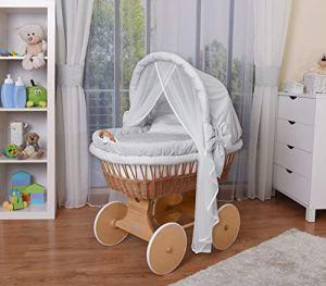 WALDIN Landau/berceau bébé complet,44 modèles disponibles,Cadre/Roues non traitée,couleur du tissu gris/carreaux