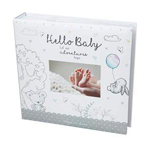 Baby First Album photo pour bébé 4 x 15 cm 200 photos mémo Blanc Unisexe Anniversaire baptême
