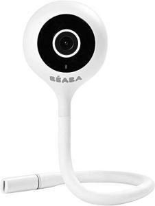 BÉABA, Ecoute Bébé Vidéo, Babyphone Zen Connect, Caméra Full HD 1090p, Talkie-Walkie, Longue Portée, Connexion Mobile et Wifi, Berceuses, Tige flexible