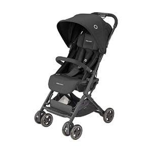 Bébé Confort Lara 2, Poussette légère ultra compacte, pliage facile, compatible cosis, de la naissance à 4 ans (0-22 kg), Essential Black
