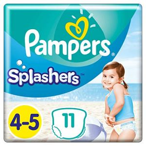Couches-culottes de Bain Jetables Pampers Taille 4-5 – Splashers, 11 culottes