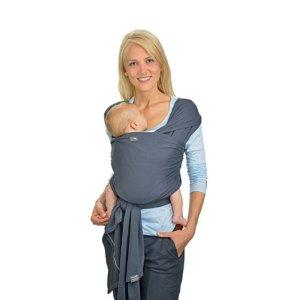 HOPPEDIZ® Écharpe porte-bébé extensible anthracite