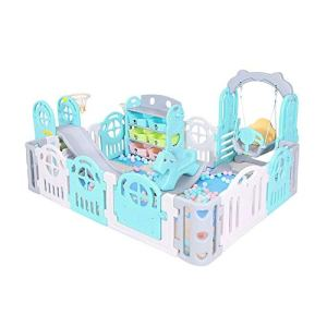 Jia He Barrière de bébé Clôture de sécurité, clôture de Jeu pour Enfants Accueil bébé intérieur Tapis Rampant Bambin Slide bébé clôture @@ (Couleur : A)