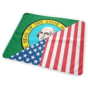 Matelas à langer imperméable et réutilisable pour bébé Motif drapeau de l'État de Washington
