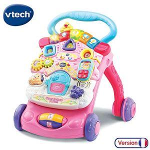 VTech – Super Trotteur Parlant 2 en 1 Rose – Trotteur interactif pour apprendre à marcher