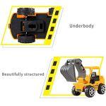 Yuejiancaos 6 PCS Jouet Modèle Mini Inertie Ingénierie Construction Camion Jouet Voiture Modèle Enfants Voiture Jouet Ensemble(Yellow)