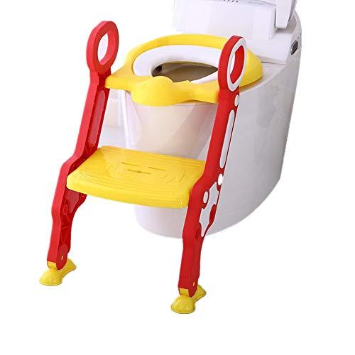 ZoSiP Confortable Safe Potty Seat Chaise Potty Antidérapante Rembourré Siège De Toilette Bébé Toilette Toilette Siège Enfant De Glissement De Sécurité Enfants (Couleur : Jaune, Design : Hard Mat)