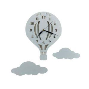 BABEES Horloge murale pour chambre d'enfant, silencieuse et silencieuse avec nuages, horloge sans tic-tac pour chambre d'enfant, mécanisme de montre, décoration murale Scandi