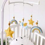 Carillon éolien mobile pour bébé, crèche pour garçon et fille, baby carillon garçon, cloche de lit, crèche mobile, mobile pour lit de bébé (CL05)