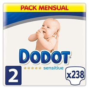 Dodot SensitiveCouches pour bébéTaille 2 (4 – 8 kg) 238 couches