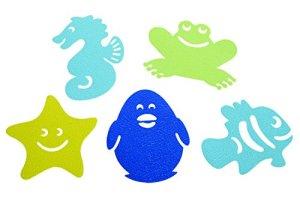 Dreambaby Lot de 10 tapis de bain antidérapants Multicolore