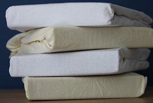 Dudu N Girlie Drap-Housse en Jersey de Coton 65 x 95 cm Blanc/crème