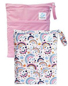 Maman et bb Nature – Lot 2 Sacs imperméables pour couches lavables 2 poches – Joy