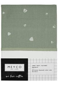 Meyco 433042 Drap-housse en tissu avec bordure de revers Multicolore 75 x 100 cm