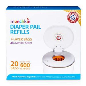 Munchkin Arm & Hammer Paquet de 20sacs poubelle pour couches