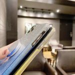 Nadoli pour Samsung Galaxy A31 Pente éclat Coque,3 Couches Bling Transparente Ultra-Mince Paillette Silicone Couverture Dur Hybride de Protection Coque Housse Étui avec Béquille
