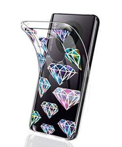 Oihxse Mode Motif de Diamant Case Compatible pour Nokia 7.2 Coque Silicone Ultra Mince Transparent Souple Bumper Crystal Clair Anti-Rayures Antichoc Protection Cover,Diamant 6
