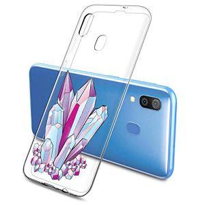 Oihxse Mode Motif de Diamant Case Compatible pour Samsung Galaxy J710 Coque Silicone Ultra Mince Transparent Souple Bumper Crystal Clair Anti-Rayures Antichoc Protection Cover,Diamant 1