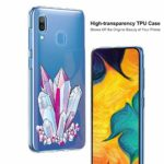 Oihxse Mode Motif de Diamant Case Compatible pour Samsung Galaxy J8 2018/ON8 Coque Silicone Ultra Mince Transparent Souple Bumper Crystal Clair Anti-Rayures Antichoc Protection Cover,Diamant 1