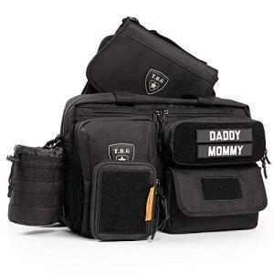 Tactical Baby Gear Ensemble de sac à langer tactique Deuce 2.0 et matelas à langer (Noir)