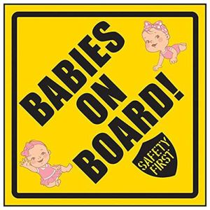 VSafety NV119AM-RY Babies On Board Safety First/Girl & Girl Sign