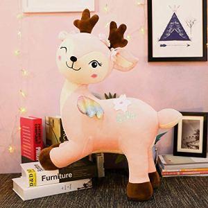 CPFYZH Cerf Mignon en Peluche en Peluche Grande poupée Animaux Jouets Doux Dessin animé poupées Enfants Fille cadeaux-40Cm_Pink