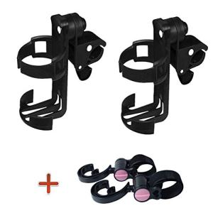DQTYE 2pcs porte-gobelet universel Porte-gobelet / poussette Topist universel avec 2 attaches crochet Bouteille Organisateur Adapté pour Baby Buggy Bike
