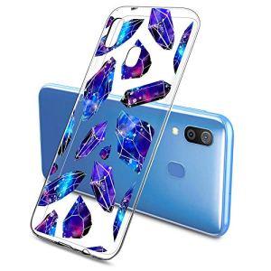 Oihxse Mode Motif de Diamant Case Compatible pour Samsung Galaxy A01 Coque Silicone Ultra Mince Transparent Souple Bumper Crystal Clair Anti-Rayures Antichoc Protection Cover,Diamant 7